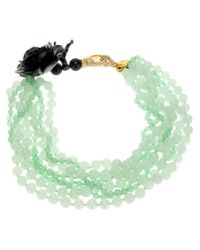 Katerina Psoma - Green Multi Strand Agate Necklace - Lyst
