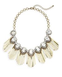 Cara - Metallic Fringed Collar Necklace - Lyst
