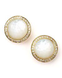 Ippolita Metallic Mother-Of-Pearl Diamond Earrings
