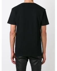 Balmain Black Logo Motif T-Shirt for men