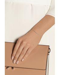 Monica Vinader   Pink Skinny Bar Rose Gold-Plated Diamond Bracelet   Lyst