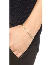 Michael Kors - Metallic Pave Open Cuff Bracelet - Gold/Clear - Lyst
