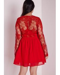 Missguided | Plus Size Lace Prom Dress Red | Lyst