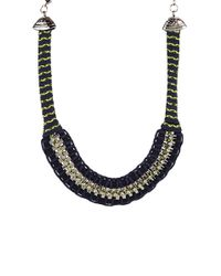 Adia Kibur | Blue Braided Box Chain Necklace | Lyst