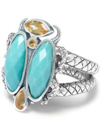 Stephen Dweck | Blue Silver Turquoise Scarab Ring | Lyst
