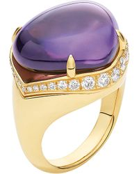 BVLGARI | Metallic Mediterranean Eden Sassi 18Ct Yellow-Gold, Diamond And Amethyst Ring - For Women | Lyst