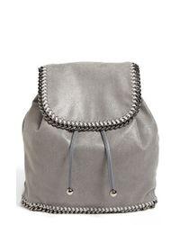 Stella McCartney Gray 'falabella - Shaggy Deer' Backpack
