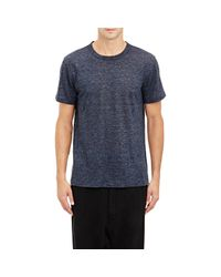 T By Alexander Wang Blue Melange Slub T-shirt for men