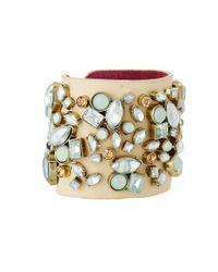 Betsey Johnson - Multicolor Wide Stone Wrap Bracelet - Lyst
