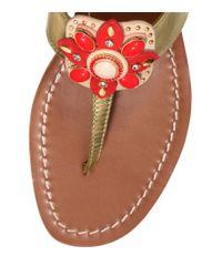 Tory Burch Maura Metallic Thong Sandal