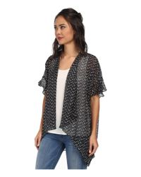 BCBGeneration - Black Ruffle Sleeve Cover-Up - Lyst