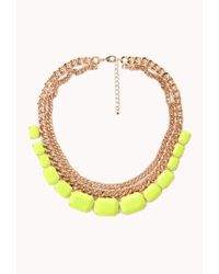 Forever 21 - Yellow Bright Thing Faux Stone Necklace - Lyst
