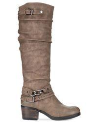 Carlos By Carlos Santana Brown Cassie Wide Calf Boots
