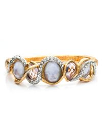 Alexis Bittar - Metallic Maldivian Multi-Stone Stacking Hinged Bracelet With Pink Amethyst And Iolite Doublet - Lyst