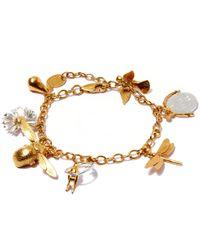 Alex Monroe Metallic Gold-plated Greatest Hit Charm Bracelet