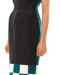 ROKSANDA Black Harlton Checkerboard Dress