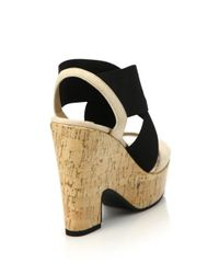 Diane von Furstenberg - Natural Deetra Banded Leather & Cork Platform Sandals - Lyst