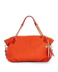 Big Buddha | Orange Clove Quilted Faux Leather Tote | Lyst
