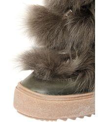 Emilio Pucci - Natural Lamb Fur & Leather Snow Boots - Lyst