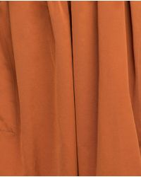 Zara | Orange Midi Skirt | Lyst