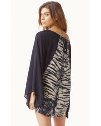 Blue Life Black Kimono Sleeve Blouse