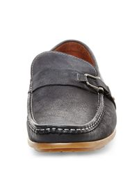 Steve Madden | Black Tavis Leather Loafers for Men | Lyst