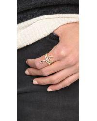 Shashi Metallic Large Snake Ring - Gold