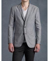John Varvatos | Gray Peak Lapel Jacket for Men | Lyst