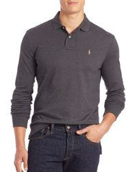 Polo Ralph Lauren - Gray Cotton Polo for Men - Lyst