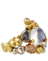 Paul Morelli | Metallic Gold Diamond and Moonstone Summer Pebble Ring | Lyst