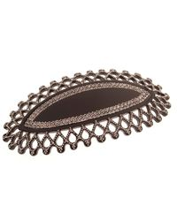 France Luxe - Black Chrysler Crystal Barrette - Lyst