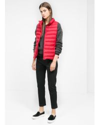 Mango - Red Foldable Feather Down Gilet - Lyst