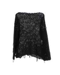MM6 by Maison Martin Margiela - Black Jumper - Lyst