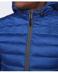 Napapijri - Blue Aerons Hood Quilted Jacket for Men - Lyst