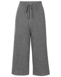TOPSHOP Gray Premium Boiled Wool Culottes