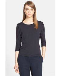 Max Mara | Blue 'circe' Jersey Top | Lyst