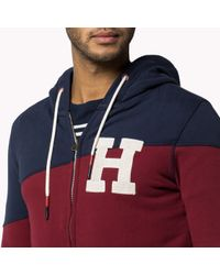 Tommy Hilfiger Red Haristo Colourblock Hoody for men