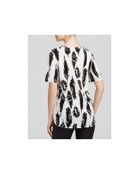 Vince | Black Plume Print Short-sleeve Tee | Lyst