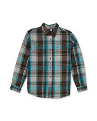 Rip Curl | Green Monte Long Sleeve Plaid Shirt for Men | Lyst