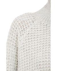 Won Hundred - White Waffle Knit Turtleneck Sweater - Lyst