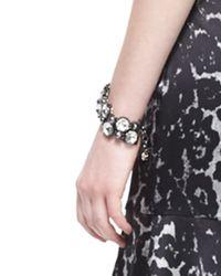 St. John | Metallic Crystal Octagon Link Bracelet | Lyst