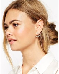 ASOS | Metallic Crystal Swing Earrings | Lyst