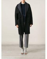 Alexander Wang - Black Oversized Coat - Lyst