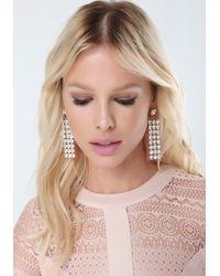 Bebe - Pink Crystal & Lucite Earrings - Lyst