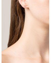 Wwake - Green 14Kt Gold Opal Stud Earrings - Lyst