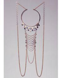 Bebe - Metallic Coin Draped Body Chain - Lyst