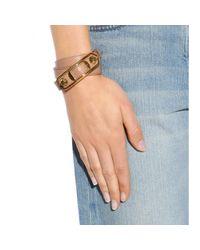 Balenciaga | Pink Giant Leather Bracelet | Lyst