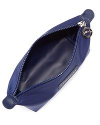 Longchamp Blue Le Pliage Neo Small Cosmetic Case