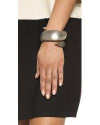 Alexis Bittar Gray Coiled Hinge Bracelet - Warm Grey