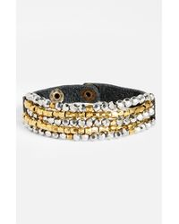 Panacea | Metallic Beaded Snap Bracelet | Lyst